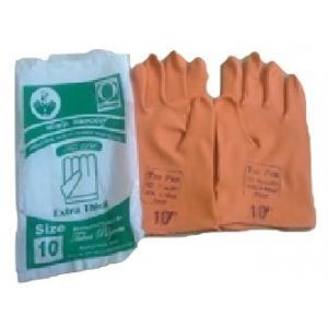 Tee Pee 14 Inch Orange Industrial Rubber Hand Gloves (Pack of 10)