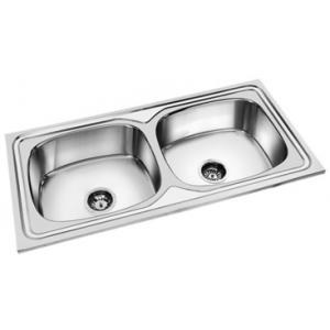 Deepali Double Bowl Kitchen Sink, DR 314A, Overall Size: 50x20 Inch