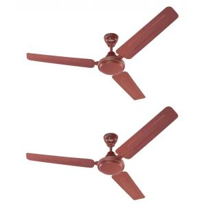 Eveready 380rpm FAB M Brown Ceiling Fan, Sweep: 1200 mm (Pack of 2)