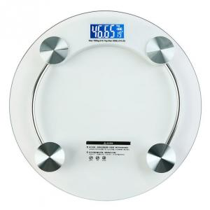 Weightrolux Digital Personal Body Weight Electronic Glass Bathroom Weighing Scale, EPS-2003White