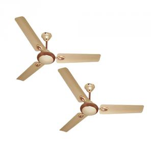 Urja Lite 70W Golden Brown Aluminium Wounded Ceiling Fan, Sweep: 1200 mm (Pack of 2)