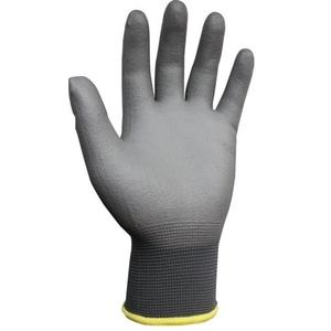 Proteger Nanoflex Grey PU Gloves, Size: L (Pack Of 10)