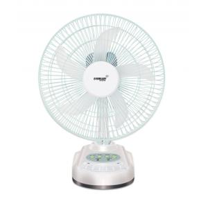 Eveready RF-04 Rechargeable Table Fan With LED Light, Colour: White